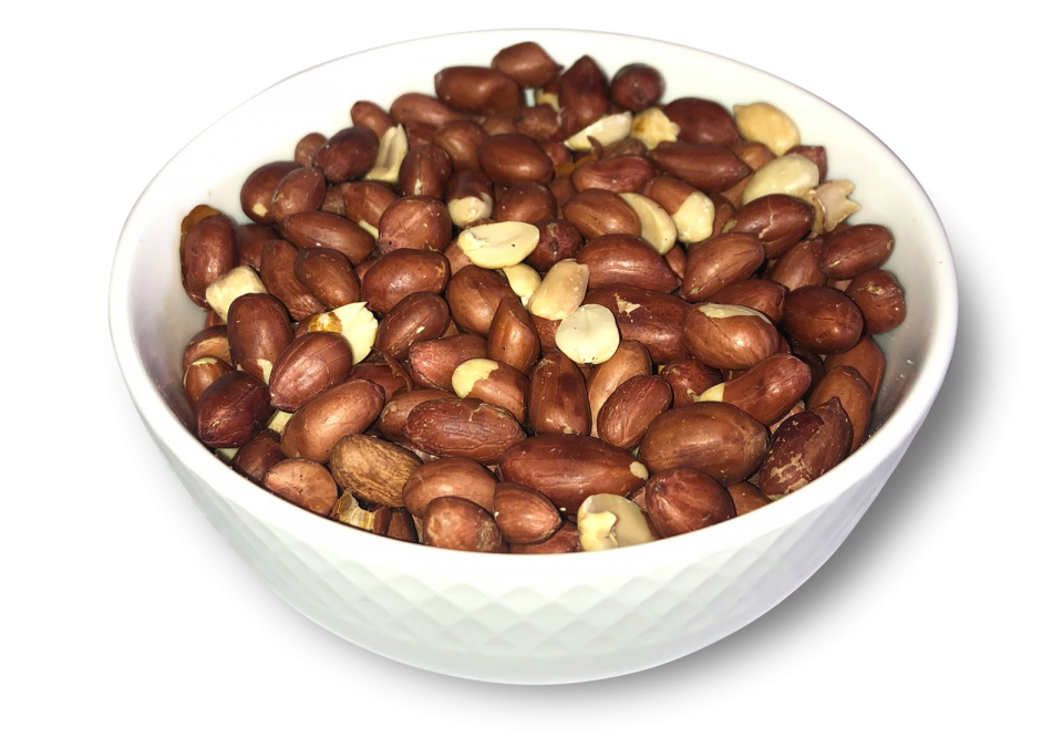 Roasted unblanched peanuts
