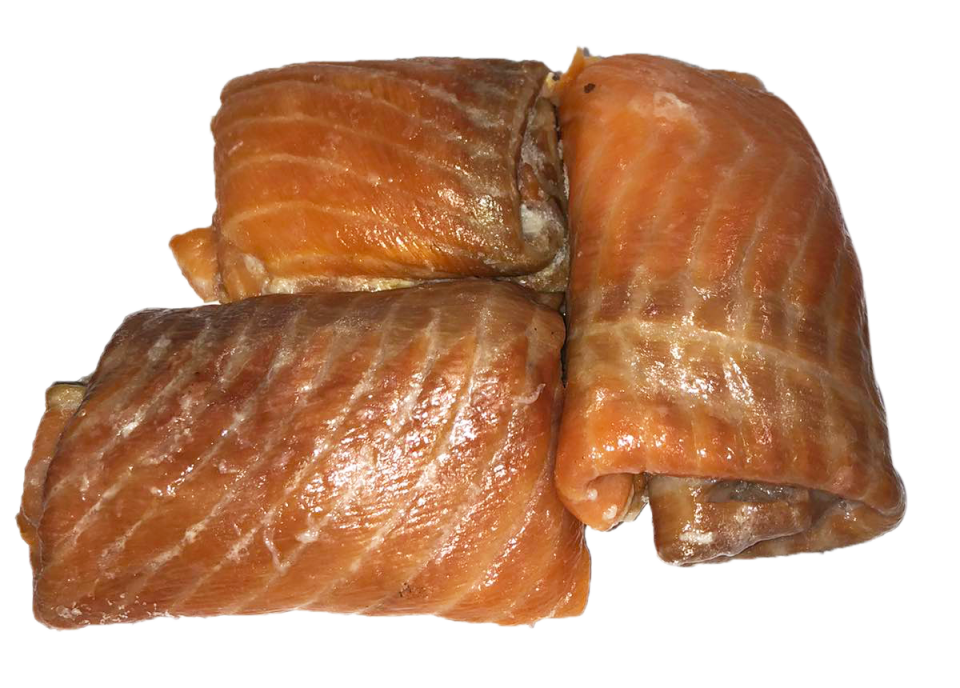 Hot smoked salmon lean meat