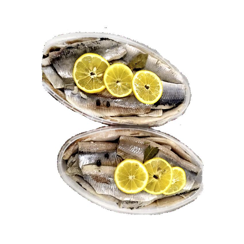 Оселедець атлантичний слабосолоний - філе без шкіри в маринаді з лимоном