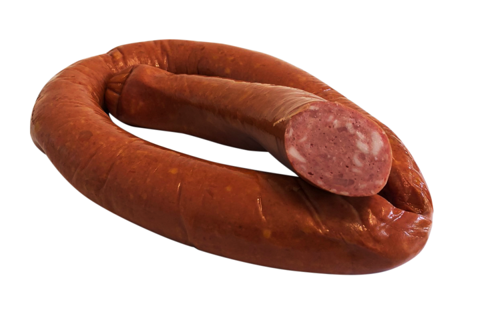 Semi-smoked chicken sausage with currant
