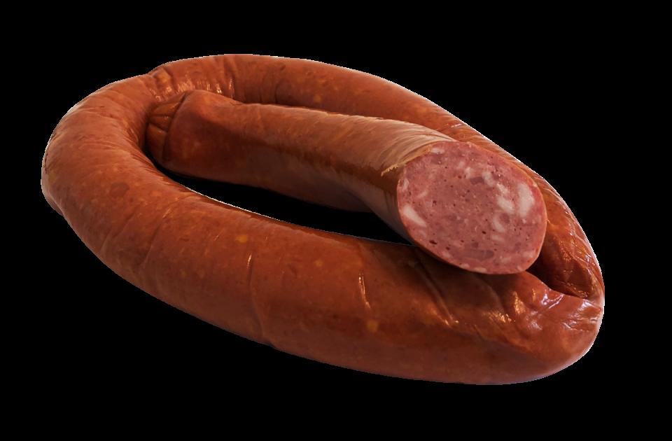 Ковбаса куряча напівкопчена зі смородиною