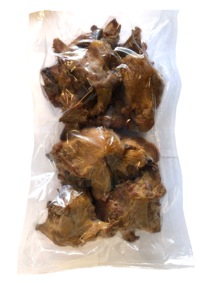 Top of back boiled-smoked chicken